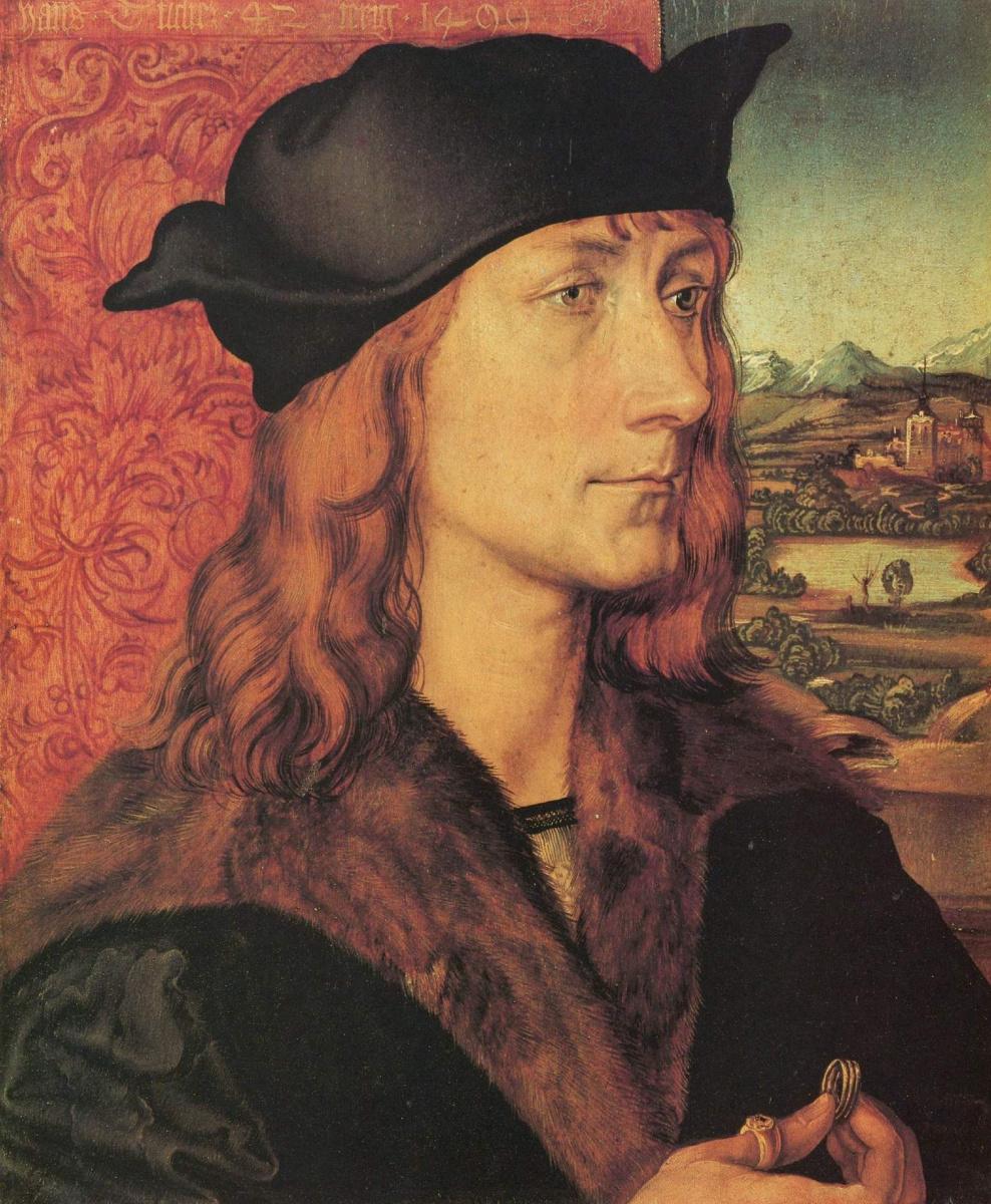 Albrecht Durer. Portrait Of Hans Tohere