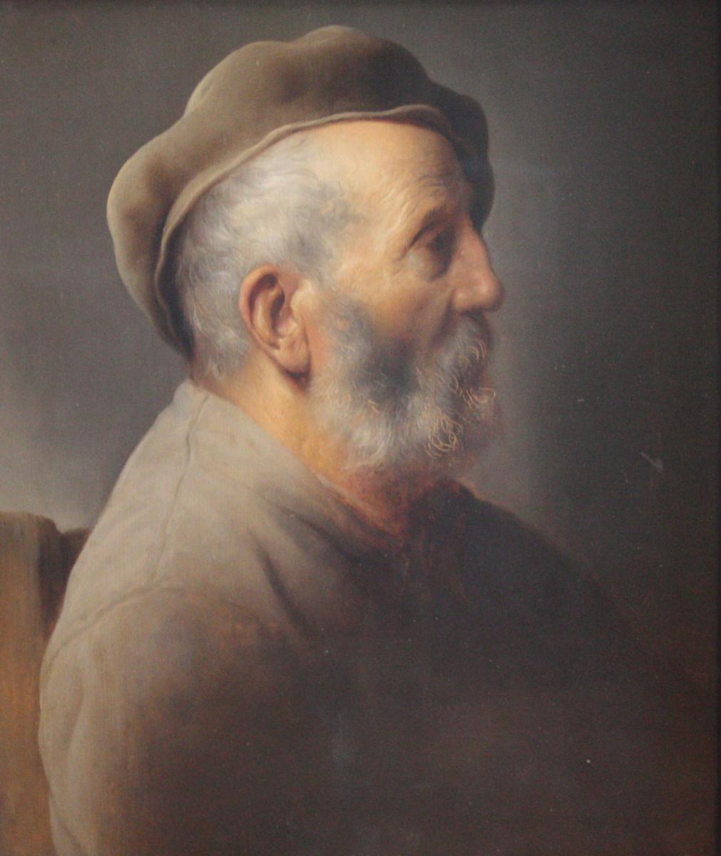 Ян Ливенс. Портрет сидящего мужчины в берете