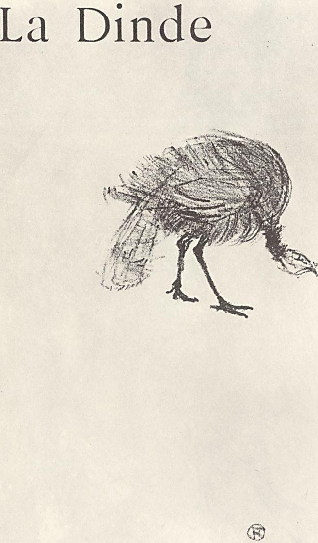 """Анри де Тулуз-Лотрек. Иллюстрация к сочинению Жюля Ренара """"Натуральные истории"""". Индюк"""