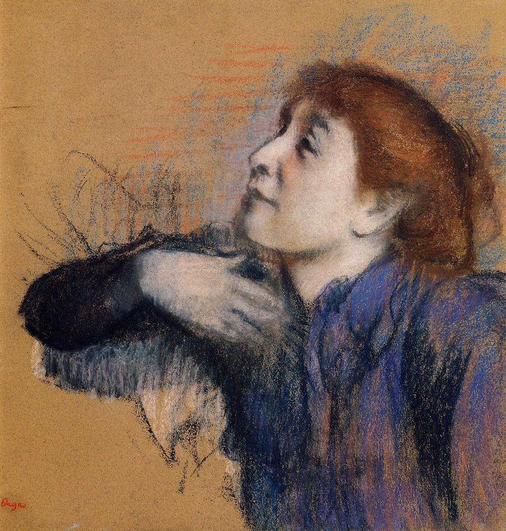Edgar Degas. Portrait of a woman