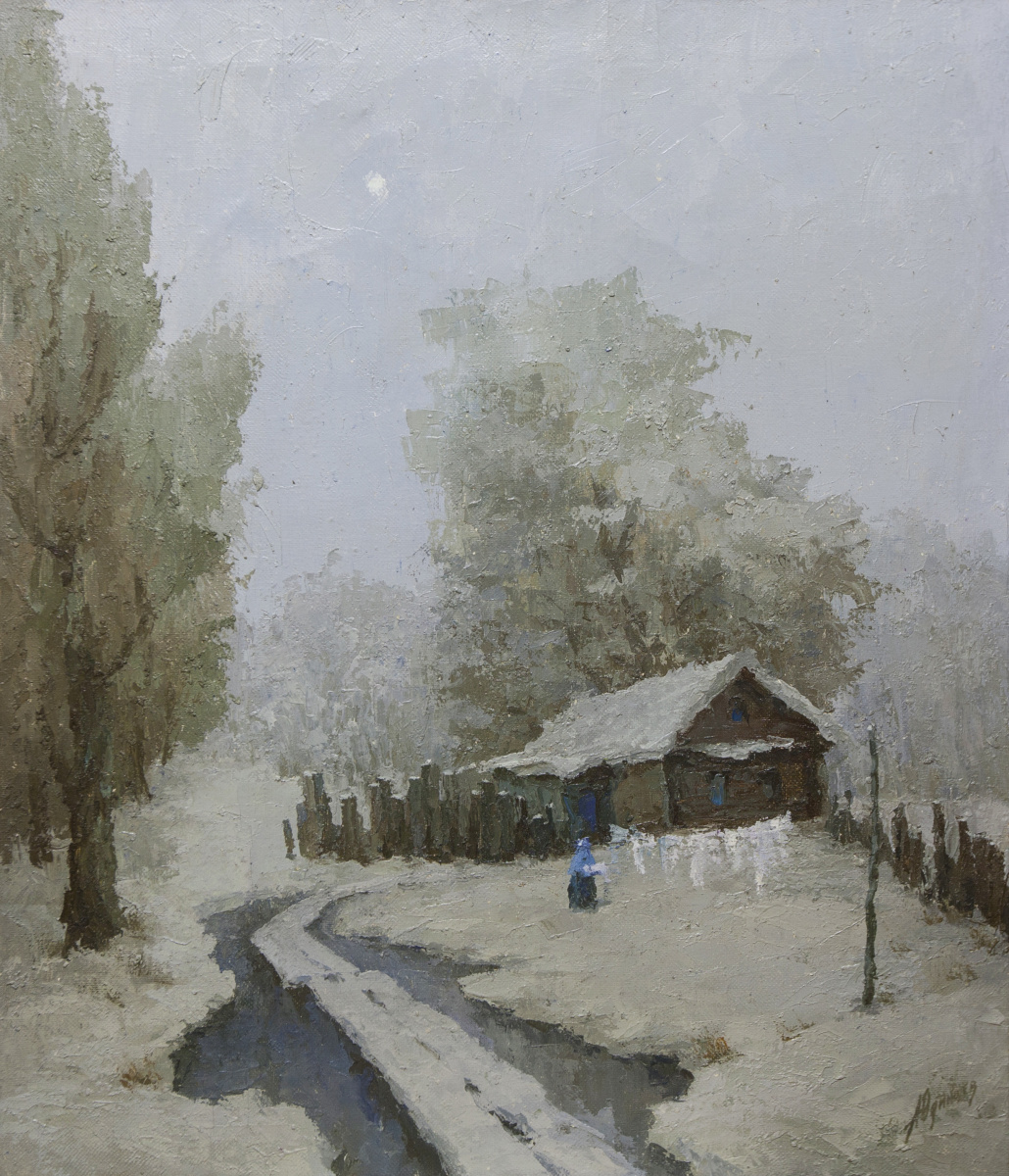 Alexander Vasilievich Yudintsev. In winter