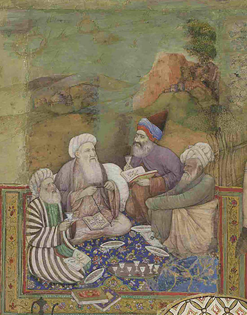 Неизвестный  художник. Четыре муллы (Фрагмент из панелей картин Миллионзиммера)