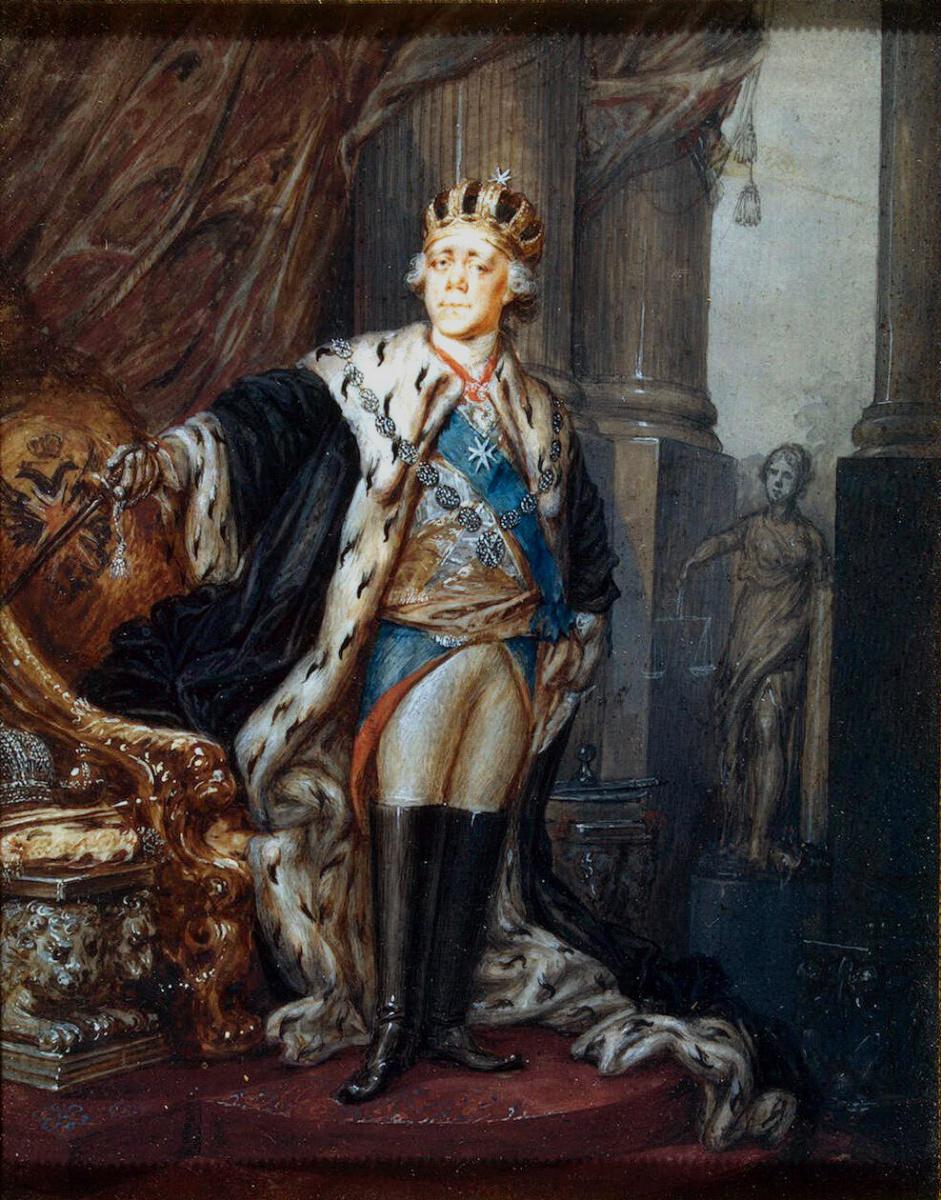 Степан Семенович Щукин. Портрет Павла I в короне Гроссмейстера Мальтийского ордена