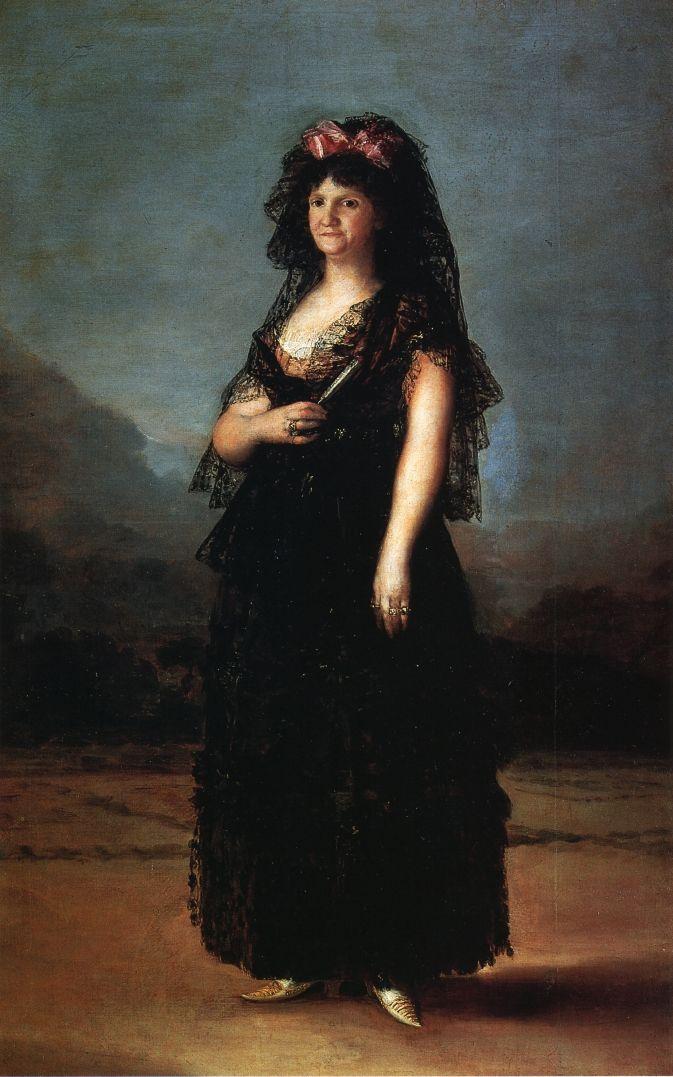 Франсиско Гойя. Портрет королевы Марии Луизы в мантилье