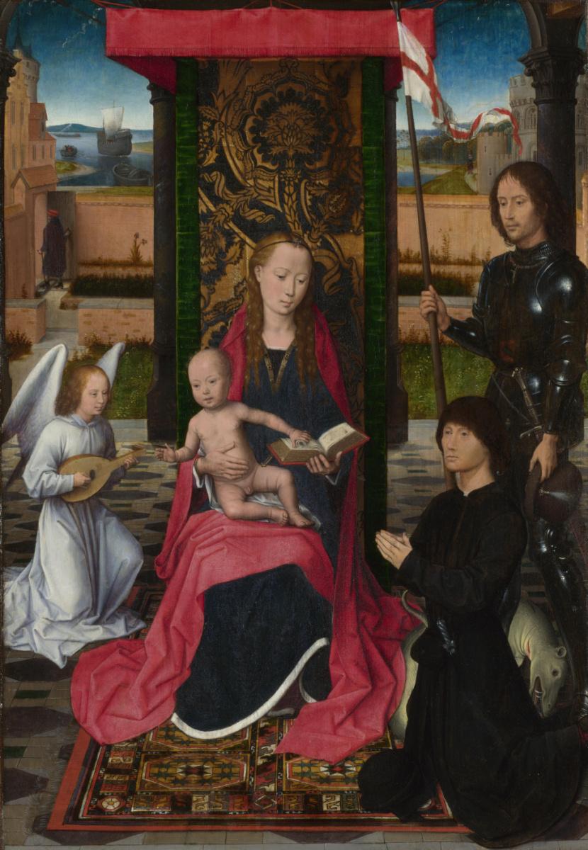 Ганс Мемлинг. Дева с младенцем и ангелом