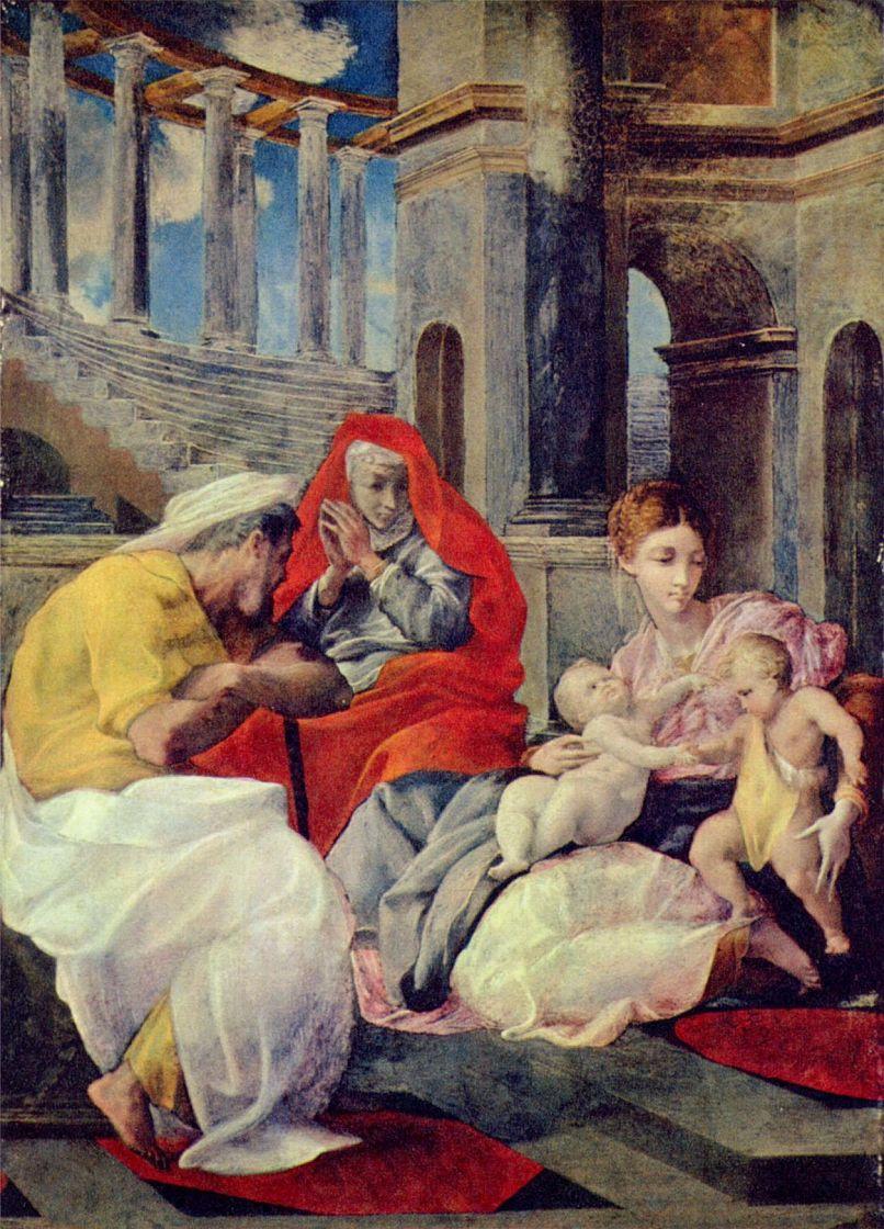 Пеллегрино Тибальди. Святое семейство со св. Елизаветой