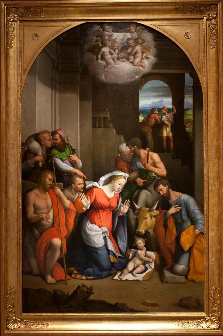 Benvenuto Tizi yes Garofalo. The adoration of the shepherds