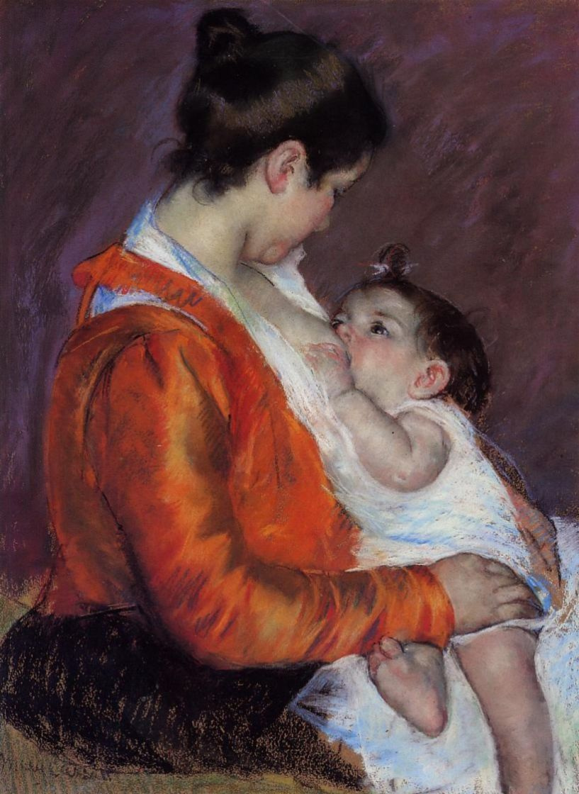 Мэри Кассат. Луиза, кормящая ребенка
