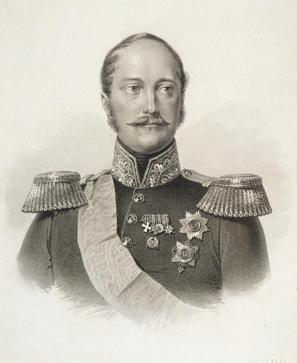 Константин Яковлевич Афанасьев. Портрет императора Николая I