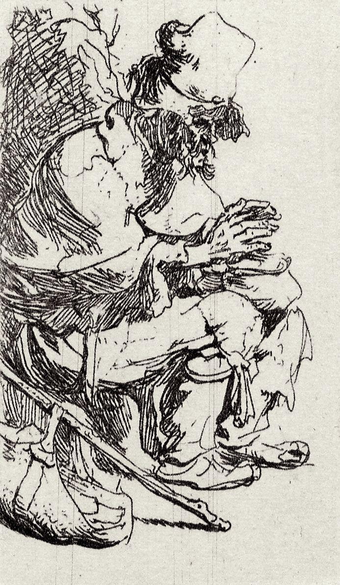 Рембрандт Харменс ван Рейн. Нищий с грелкой