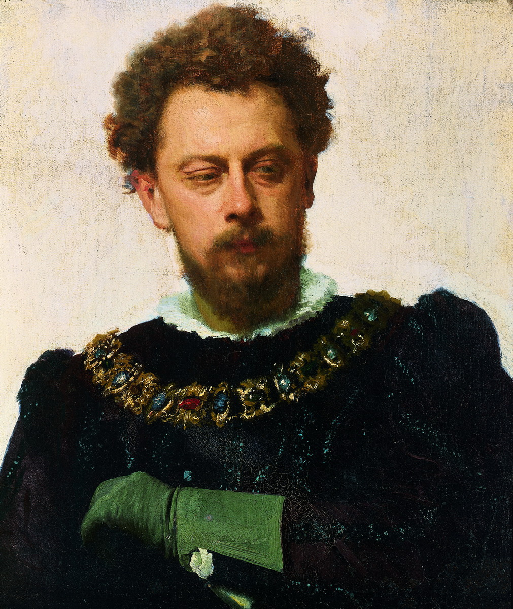 """Ivan Nikolayevich Kramskoy. Actor Aleksandr Pavlovich Lensky in the role of Petruchio in the Shakespeare Comedy """"the taming of the shrew"""""""
