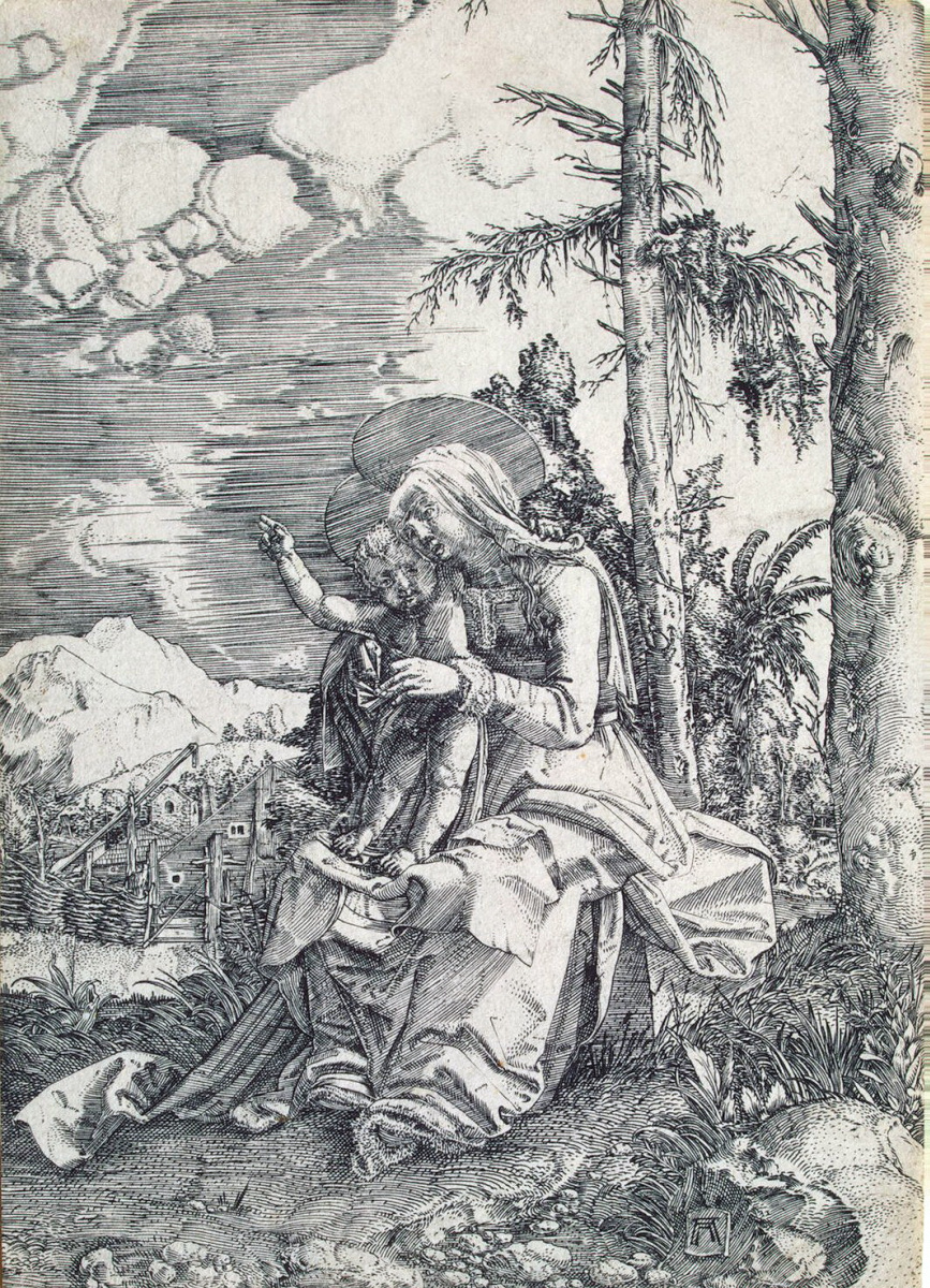 Альбрехт Альтдорфер. Мария с благословляющим младенцем