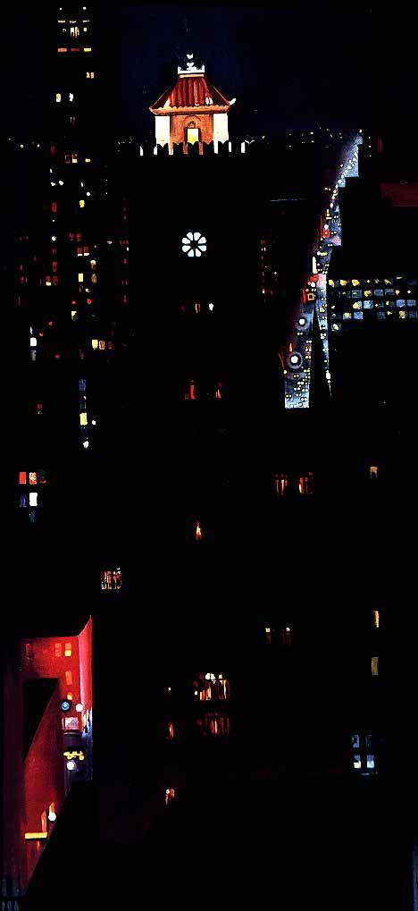 Джорджия О'Киф. Ночной Нью-Йорк