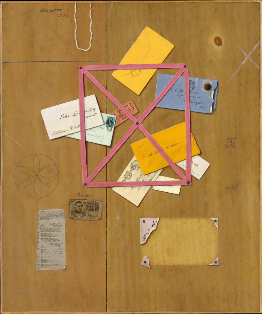 William Michael Harnett. Board letters
