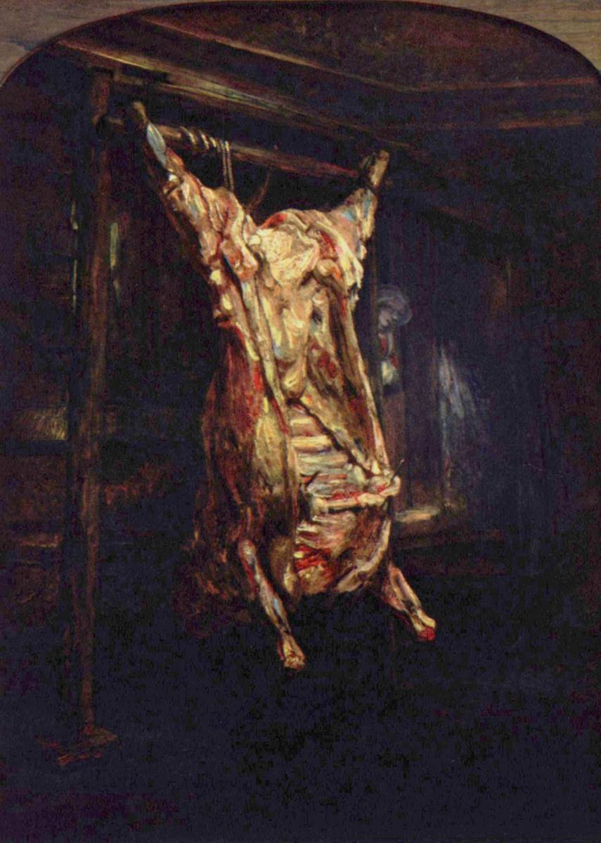 Рембрандт Ван Рейн. Разделанная бычья туша