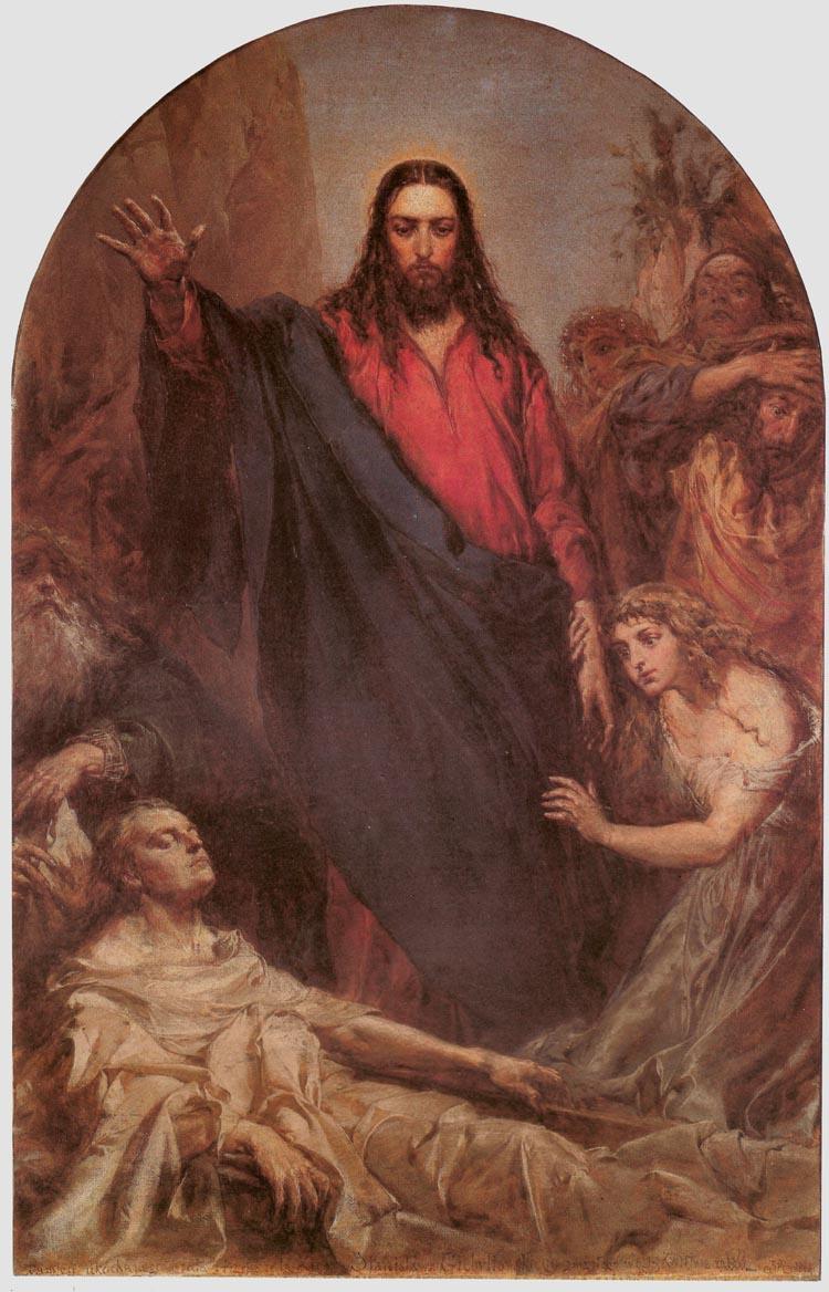 Ян Матейко. Воскресение Лазаря
