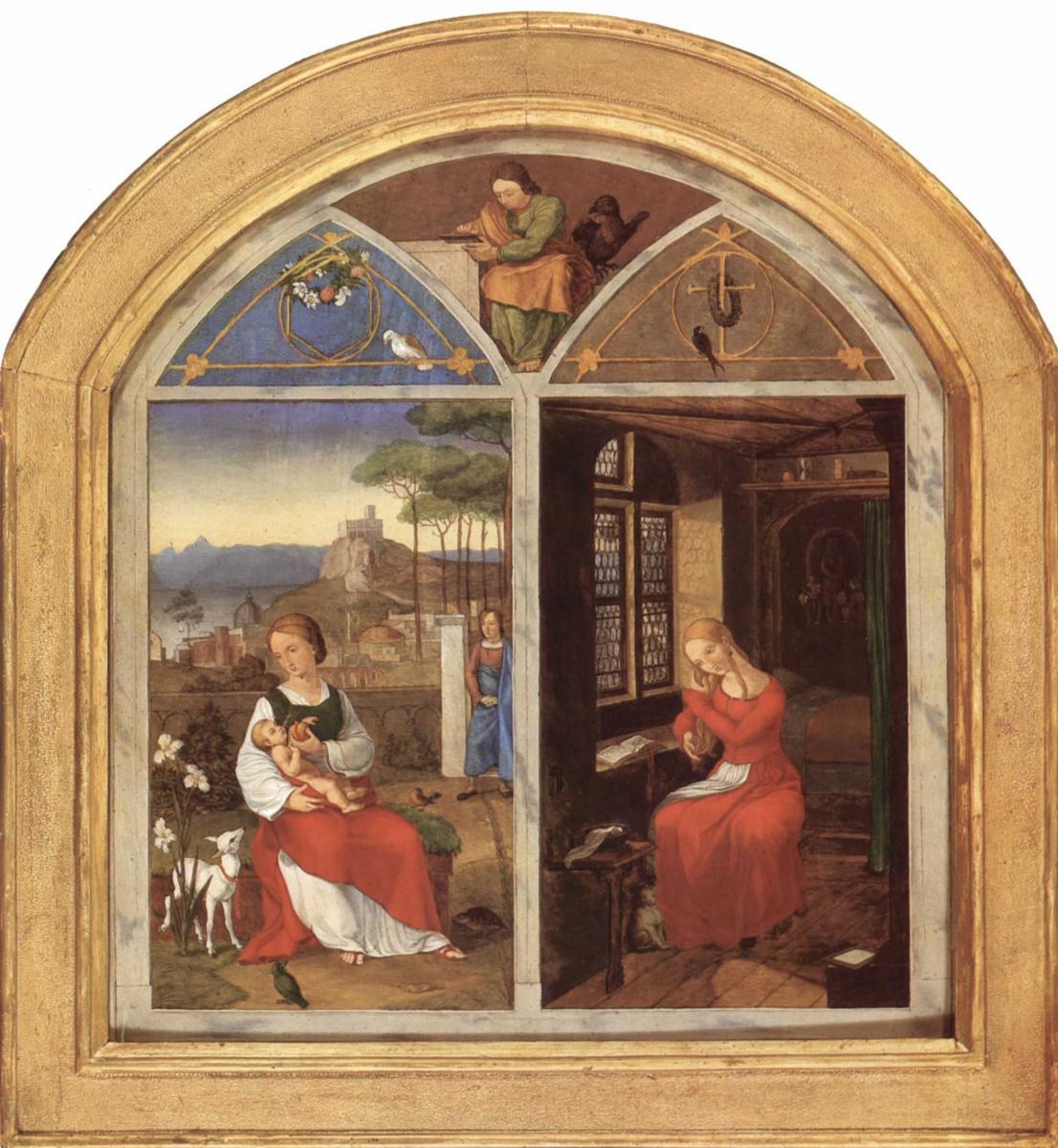 Franz Pforr. Sulamith and Maria