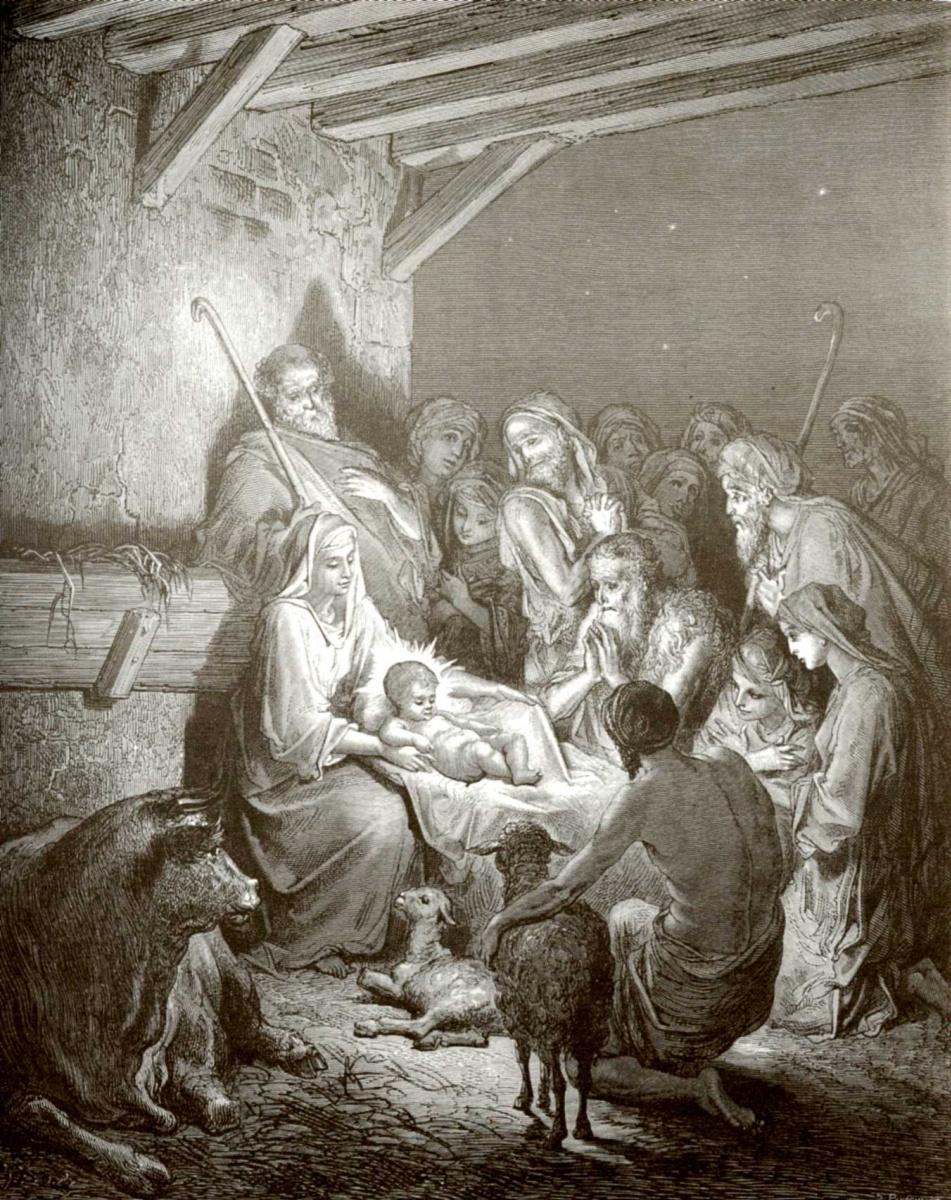 Поль Гюстав Доре. Иллюстрация к Библии: Рождество