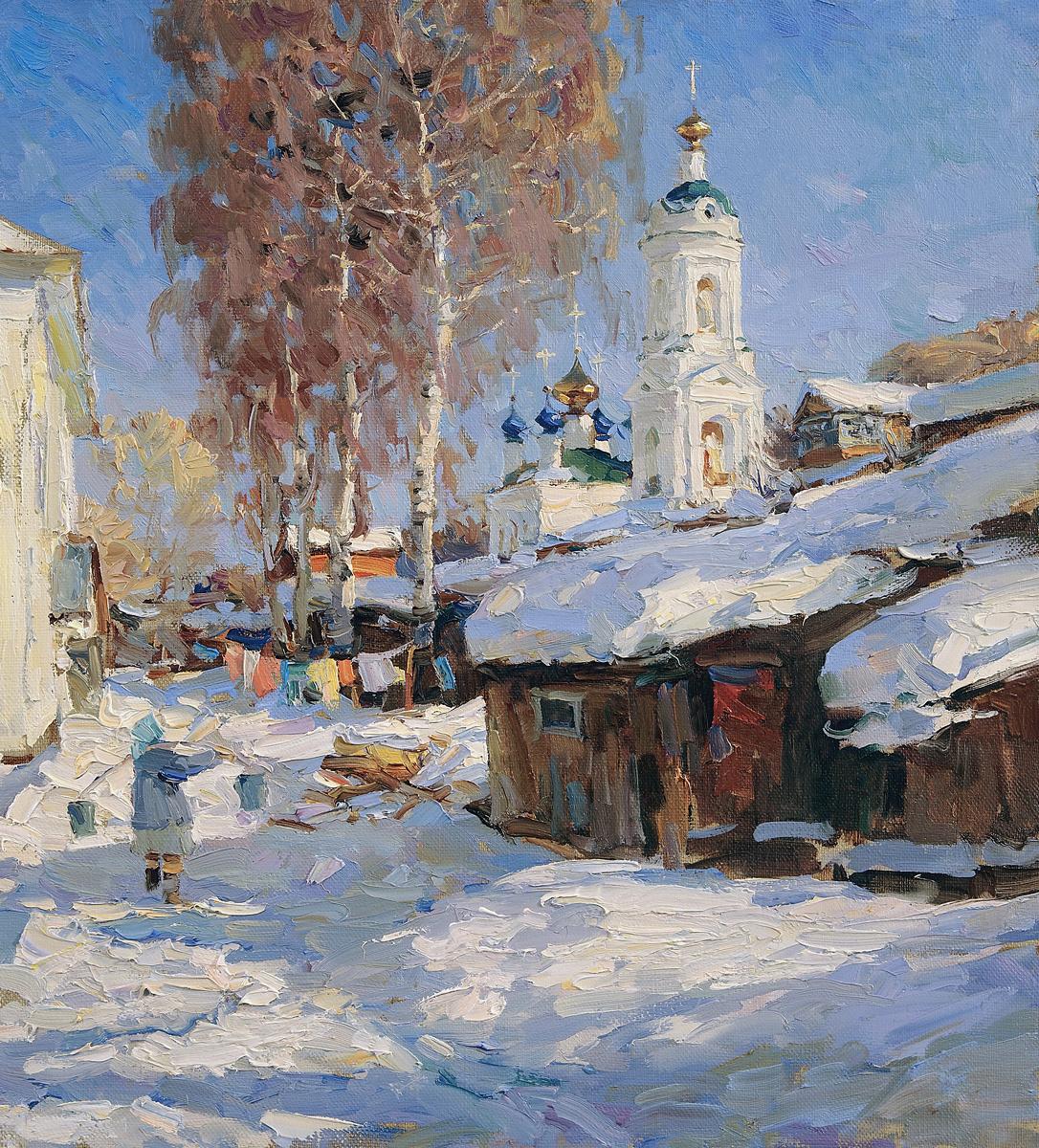 Alexander Victorovich Shevelyov. Ples.Saint Barbara. Oil on canvas 34.5 x 37.7 cm. 2012