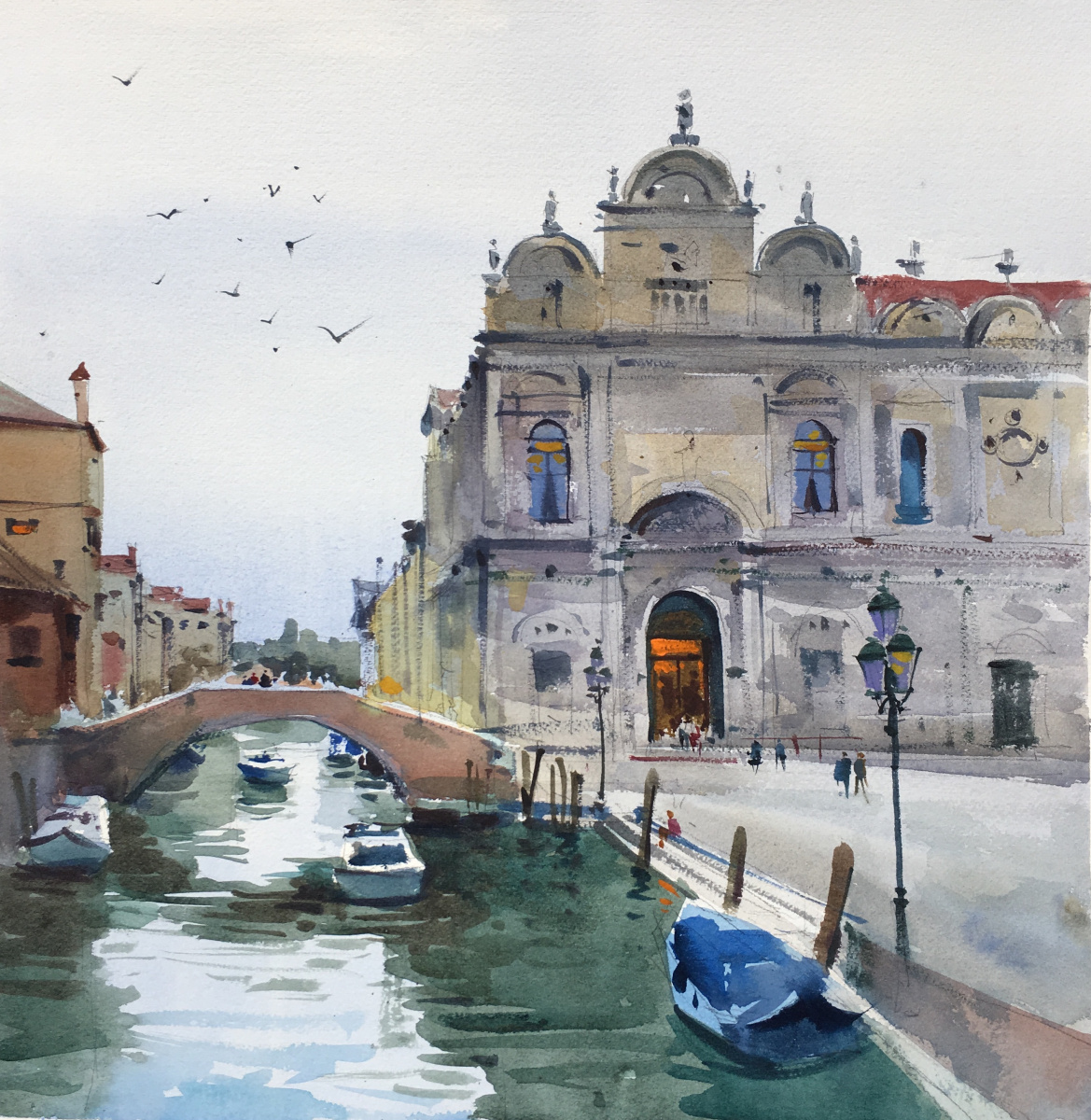Andrew. Venice Cathedral in overcast weather
