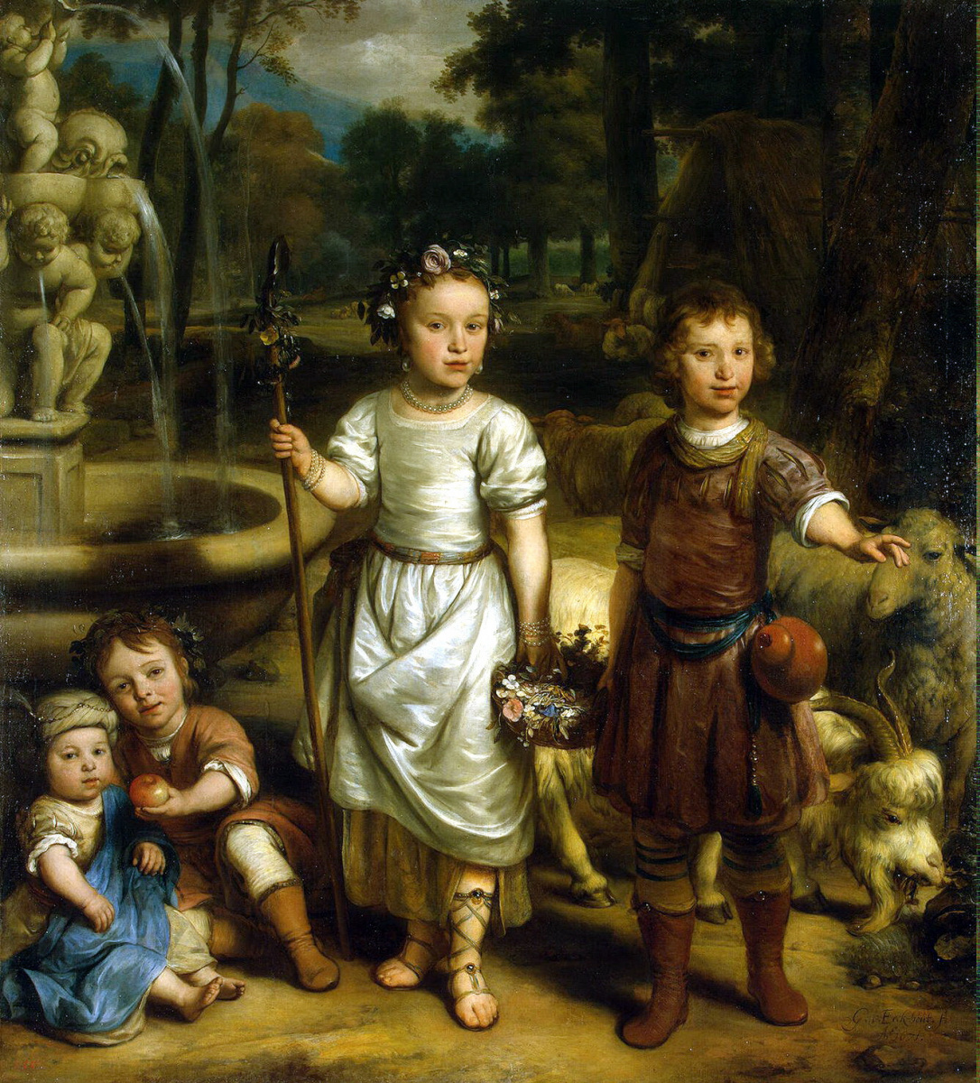 Гербранд ван ден Экхаут. Дети в парке