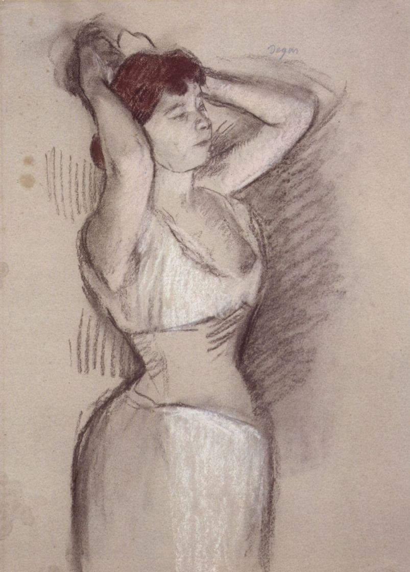 Edgar Degas. Put the hair