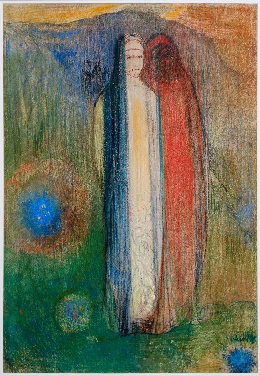 Одилон Редон. Две женщины в пейзаже (Три цвета)