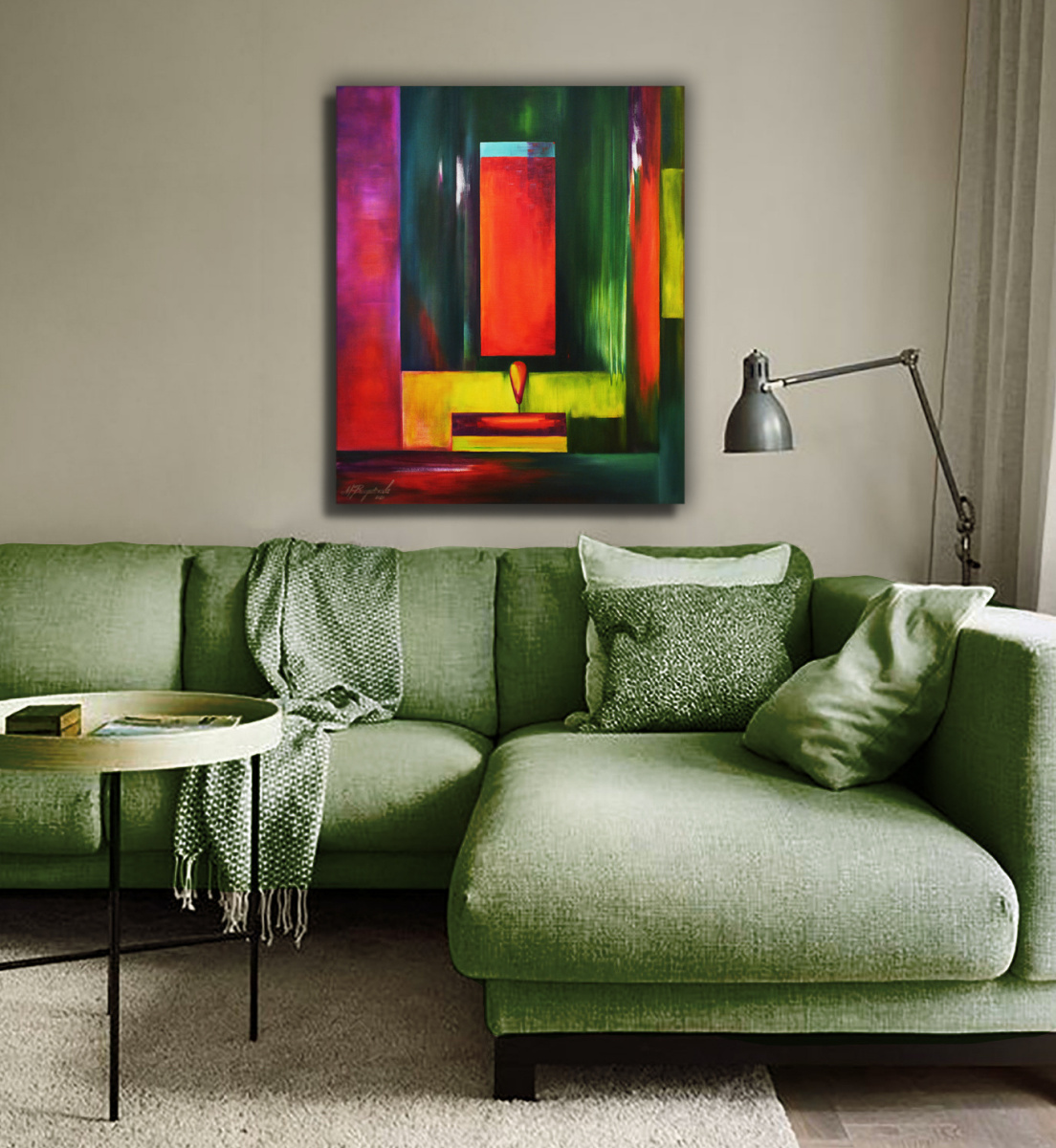 LIGHT AND MIRRORS - original oil painting