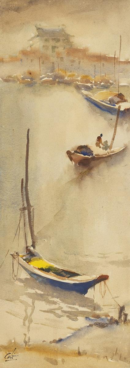 Лим Чэн Хое. Лодки на побережье