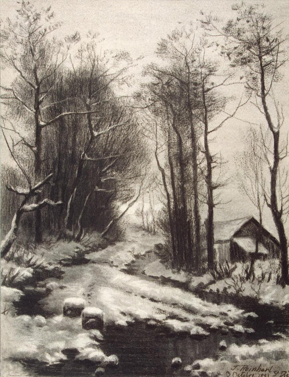 Т. Рейнхарт. Зимний пейзаж
