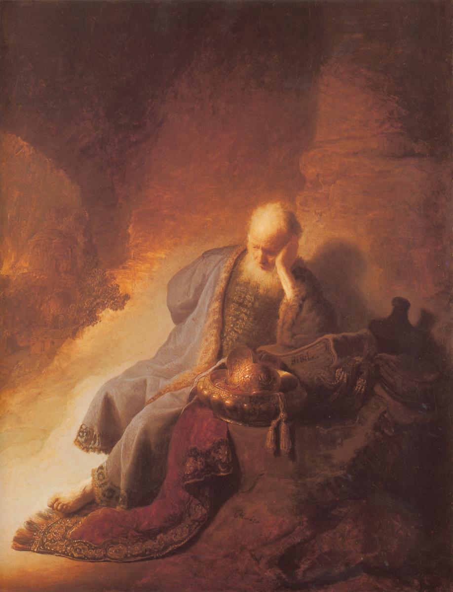 Рембрандт Ван Рейн. Плач Иеремии о разрушении Иерусалима