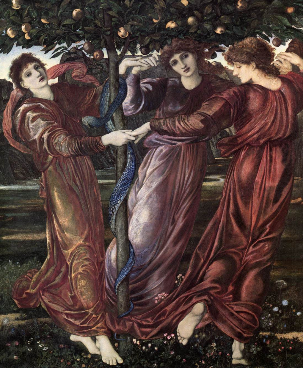 Edward Coley Burne-Jones. Hesperides Garden