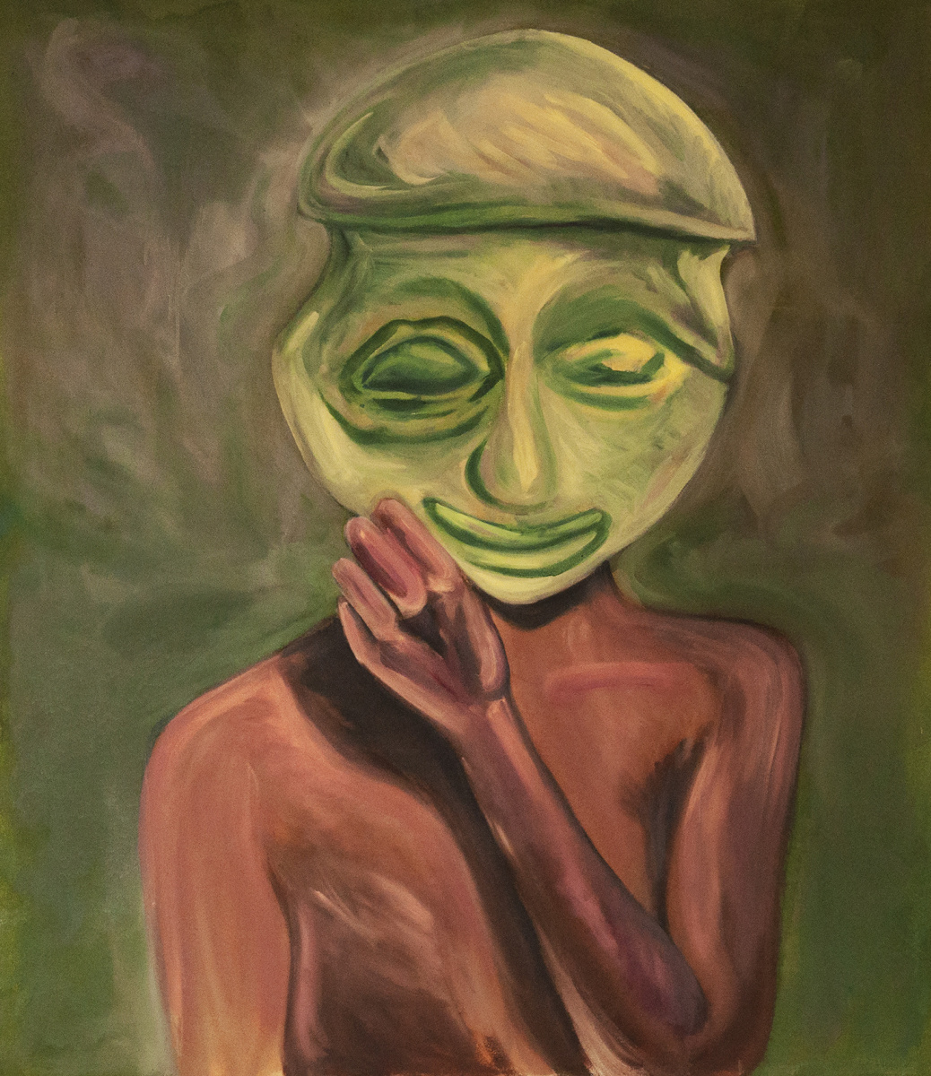 Riya Kacharava. Untitled (Green Mask)