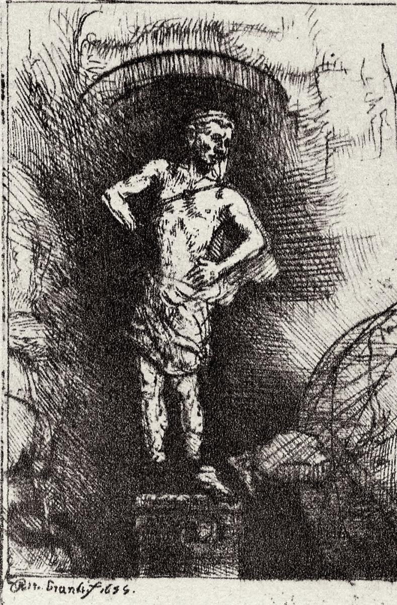 Рембрандт Харменс ван Рейн. Статуя Навуходоносора