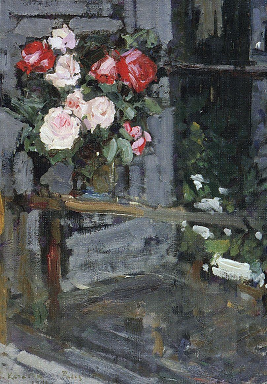 Константин Алексеевич Коровин. Розы. Вечер