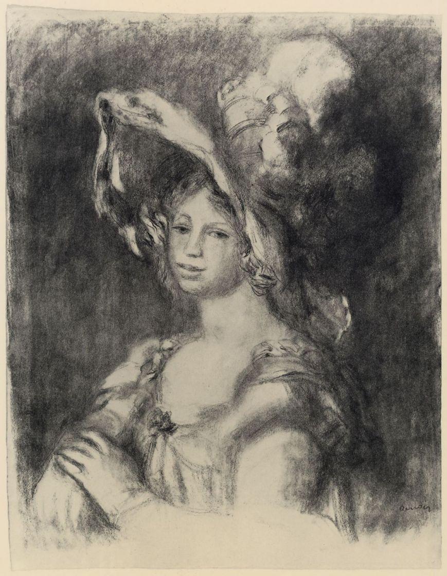 Пьер Огюст Ренуар. Портрет молодой женщины