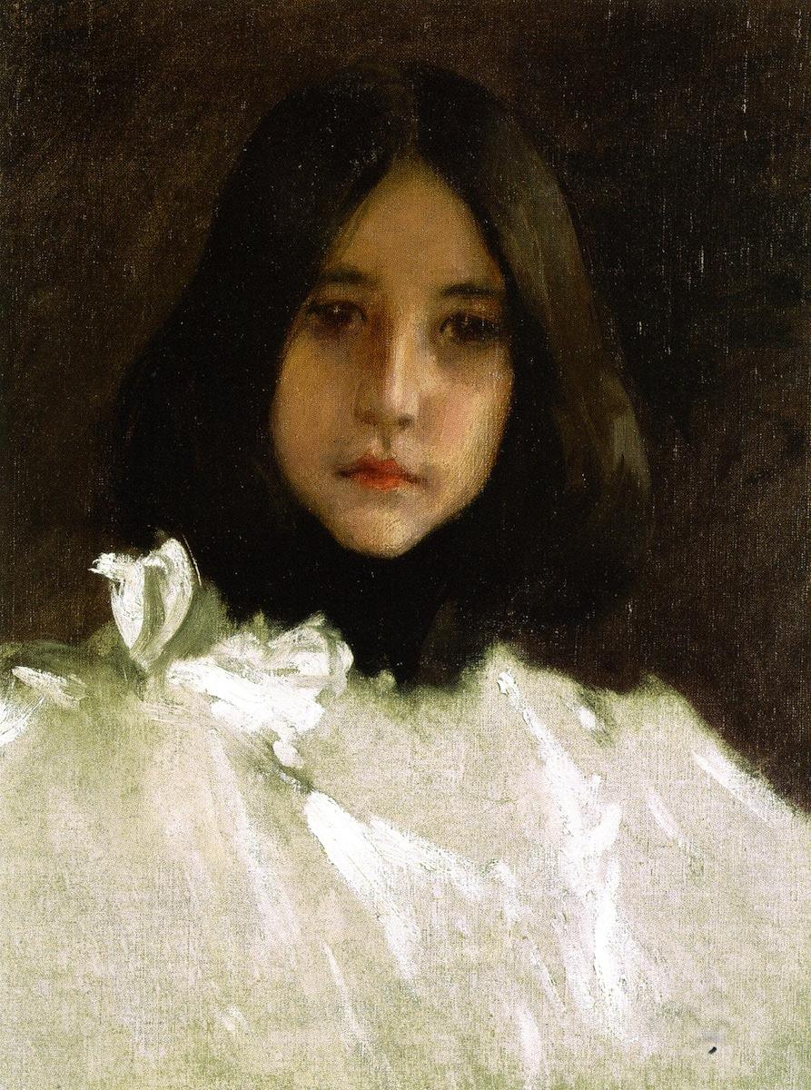 William Merritt Chase. Portrait of the artist's daughter