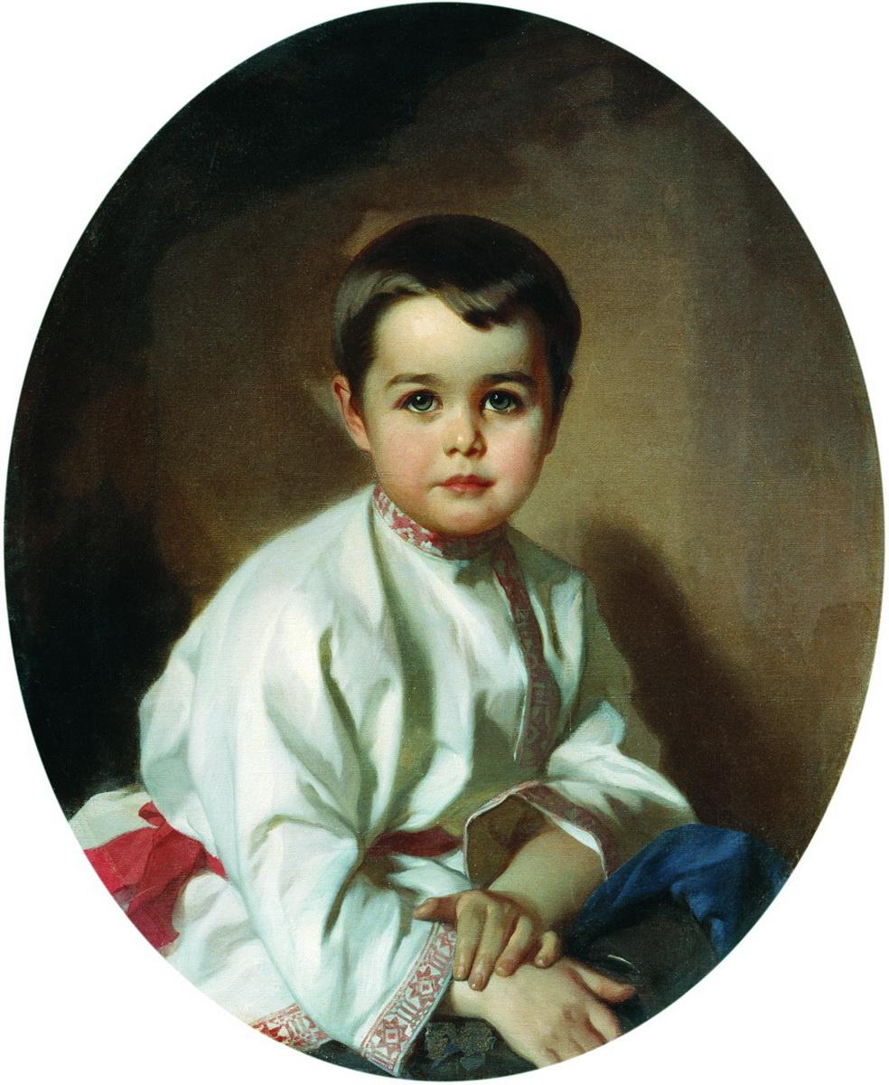 Ivan Kuzmich Makarov. Portrait of Count Pavel Sergeevich Sheremetev in childhood. 1880s