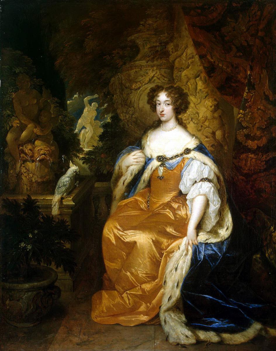 Каспар Нетшер. Портрет Марии II Стюарт