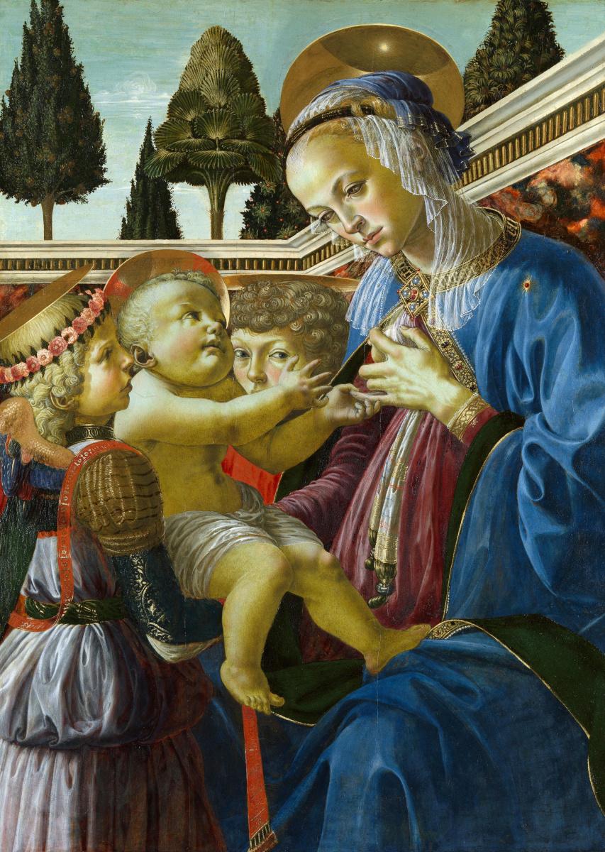 Андреа дель Верроккьо. Дева с Младенцем и двумя ангелами
