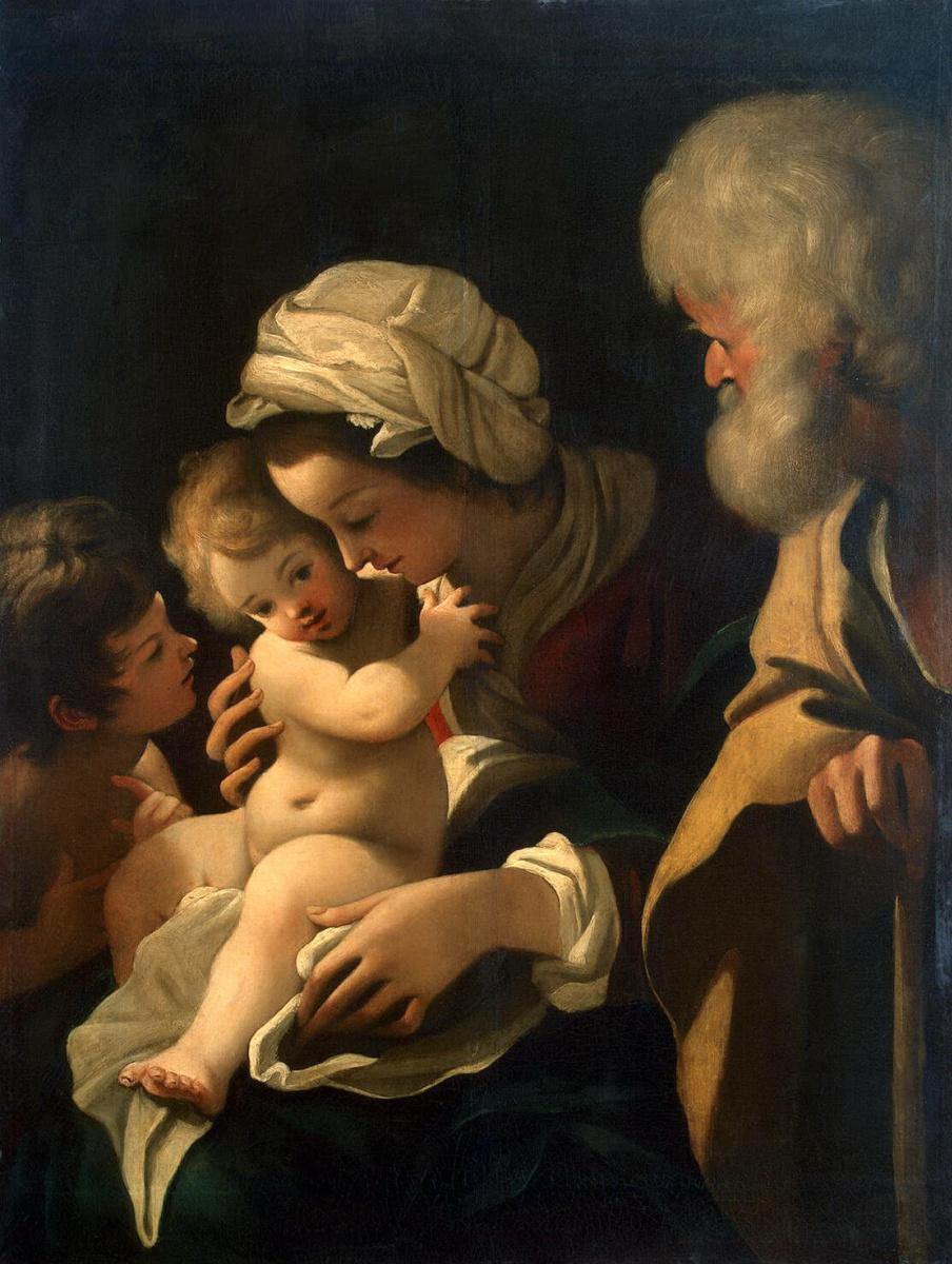 Бартоломео Скидоне. Святое Семейство с Иоанном Крестителем