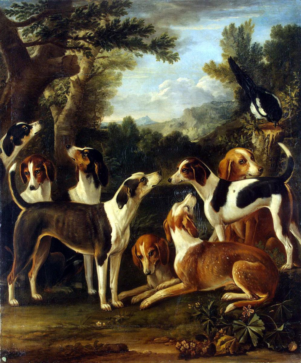 Джон Вуттон. Собаки и сорока