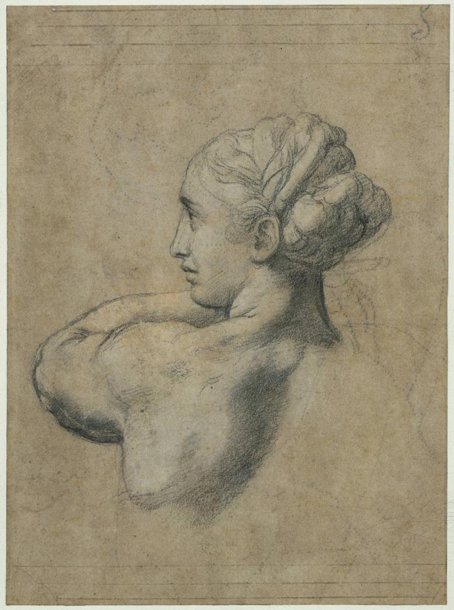 Рафаэль Санти. Голова женщины