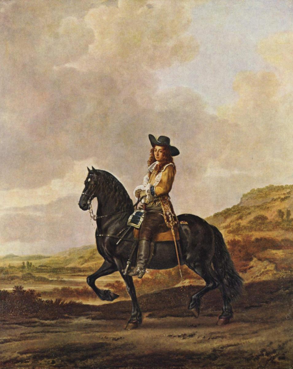 Thomas de Keyser. Equestrian portrait of Peter Saute