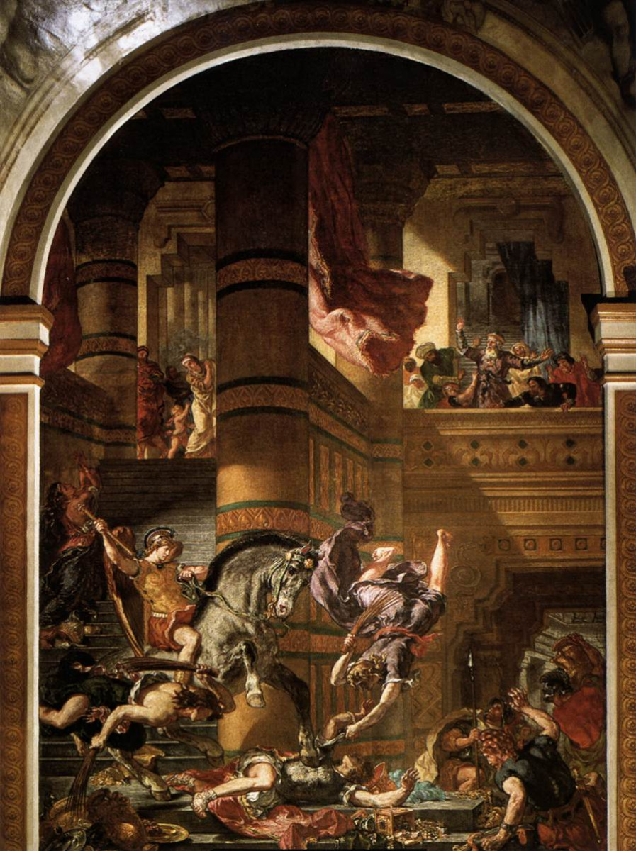 Эжен Делакруа. Изгнание Гелиодора из храма
