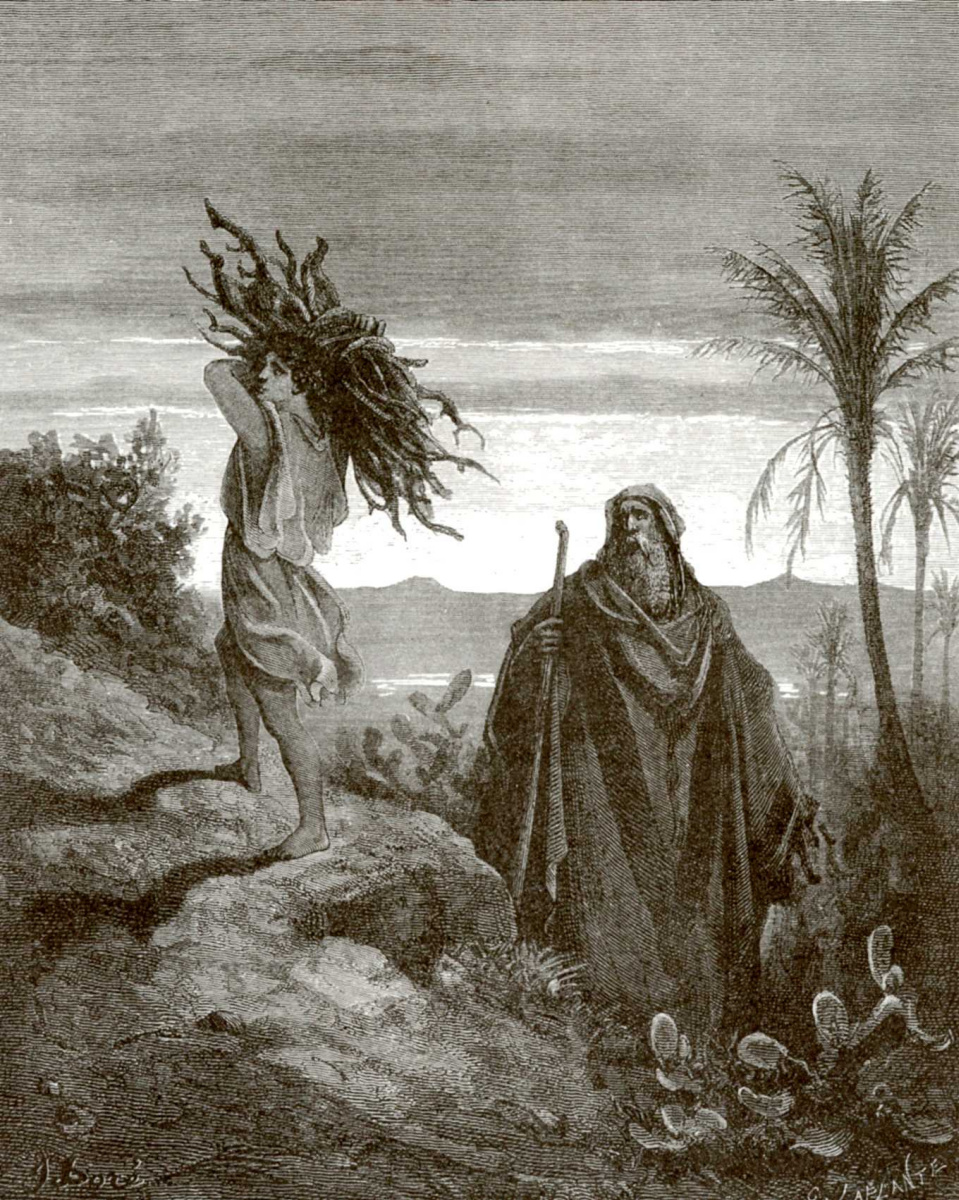Поль Гюстав Доре. Иллюстрации к Библии: Авраам и Исаак