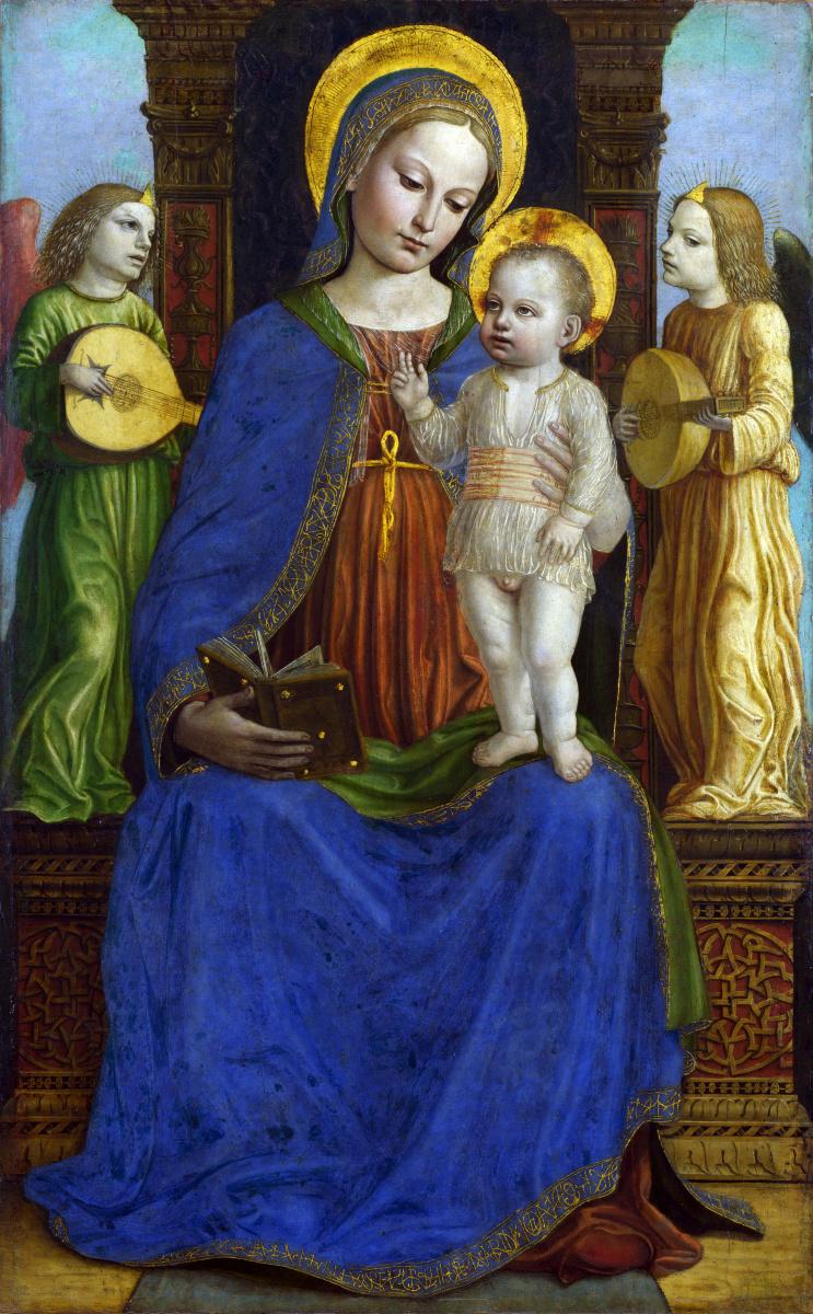 Бергогнон Бернардино. Дева с младенцем и двумя ангелами