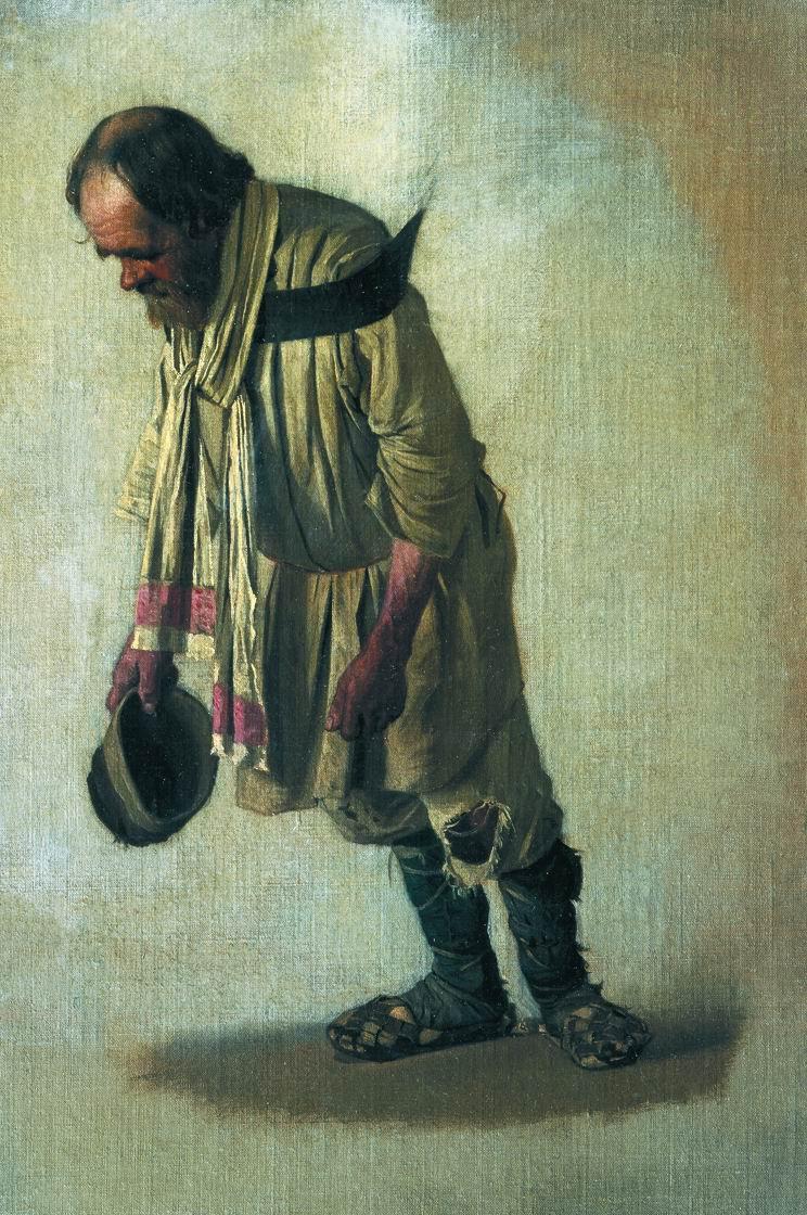 """Василий Васильевич Верещагин. Бурлак с шапкою в руке. Этюд к неосуществленной картине """"Бурлаки"""""""