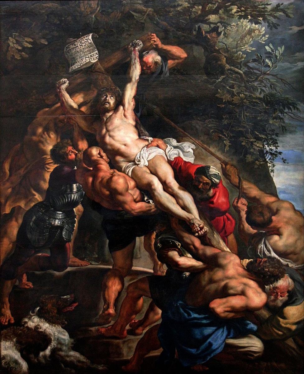 Питер Пауль Рубенс. Воздвижение Креста Господня (фрагмент)