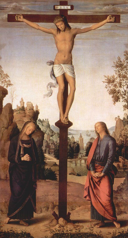 Пьетро Перуджино. Распятие с Марией и св. Иоанном